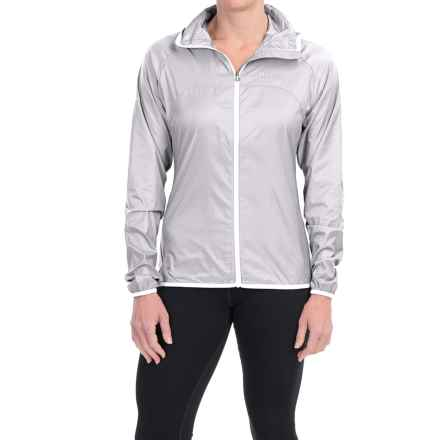Marmot Trail Wind Hoodie Jacket - Water Repellent (For Women) in Silver/White - Closeouts