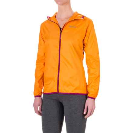 Marmot Trail Wind Hoodie Jacket - Water Repellent (For Women) in Sweet Orange - Closeouts