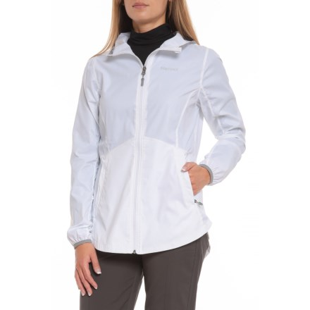 1ffe6228fbbf02 Marmot Trail Wind Hoodie - Zip Front (For Women) in White - Closeouts