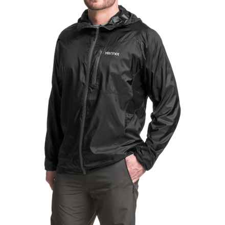 Marmot Trail Wind Jacket - Hooded (For Men) in Black - Closeouts