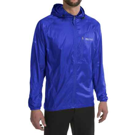 Marmot Trail Wind Jacket - Hooded (For Men) in True Blue - Closeouts