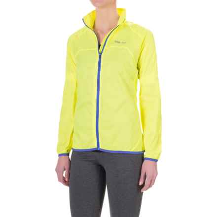 Marmot Trail Wind Jacket - Water Repellent (For Women) in Hyper Yellow - Closeouts