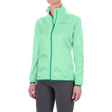 Marmot Trail Wind Jacket - Water Repellent (For Women) in Ice Green - Closeouts