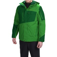 Marmot Tram Line Jacket - Waterproof, Insulated (For Men) in Green Bean/Deep Forest - Closeouts