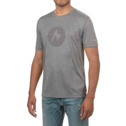 Marmot Transporter T-Shirt - Short Sleeve (For Men) in Slate Grey Heather - Closeouts