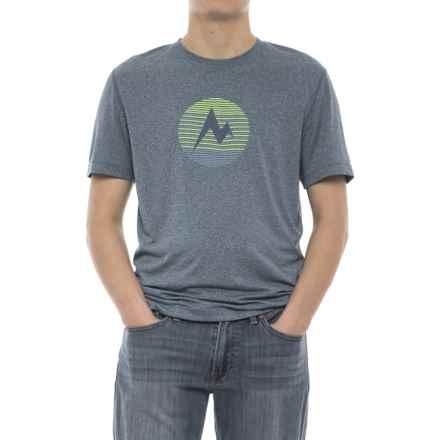 Marmot Transporter T-Shirt - UPF 30, Short Sleeve (For Men) in Briny Blue Heather - Closeouts