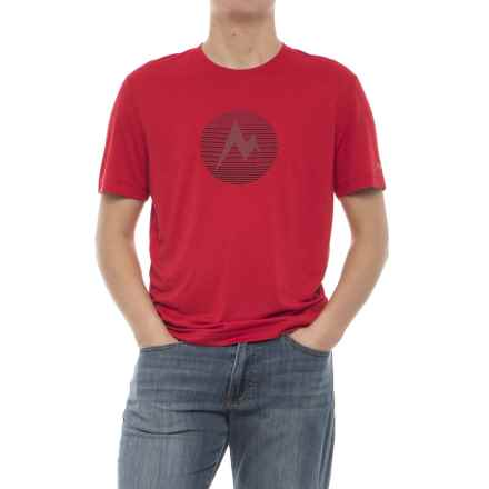 Marmot Transporter T-Shirt - UPF 30, Short Sleeve (For Men) in Tomato Heather - Closeouts