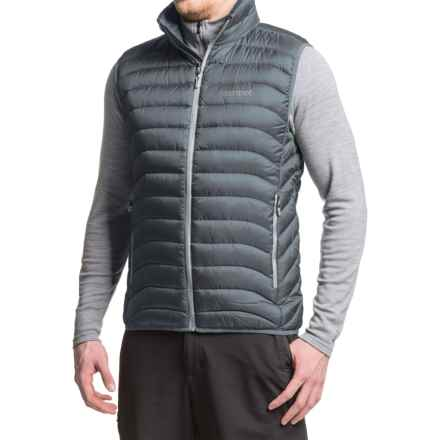 Marmot Tullus Down Vest - 600 Fill Power (For Men) in Steel Onyx - Closeouts