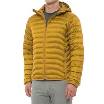 Marmot Tullus Hooded Down Jacket - 600 Fill Power (For Men) in Golden Palm - Closeouts