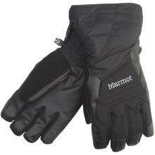 Marmot U-Notch Gloves - Waterproof, Insulated (For Men) in Black - Closeouts