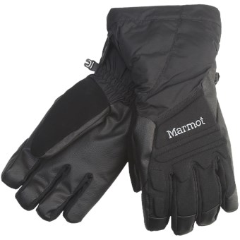 Marmot U-Notch Gloves - Waterproof, Insulated (For Men) in Black