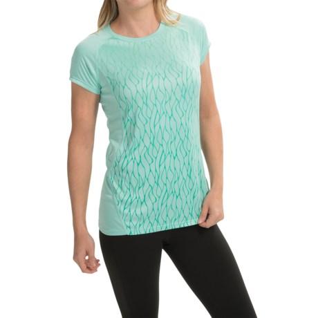 Marmot UPF 50 Shirt -Short Sleeve (For Women) in Ice Green Vapor