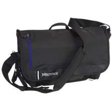 Marmot Urban Messenger Bag in Black/Surf - Closeouts