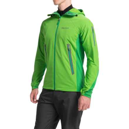 Marmot Vapor Trail Hooded  Soft Shell Jacket (For Men) in Kale Green/Green Bean - Closeouts