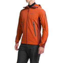 Marmot Vapor Trail Hooded  Soft Shell Jacket (For Men) in Orange Haze/Dark Rust