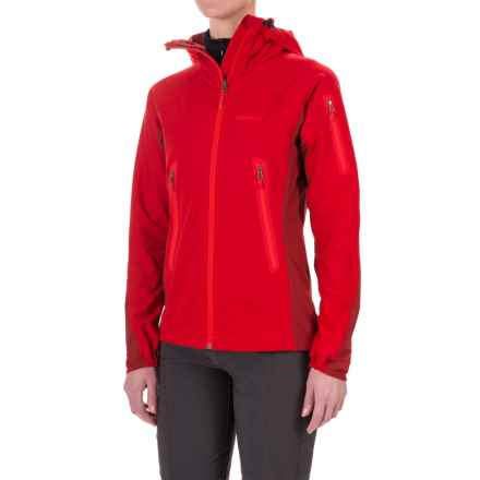 Marmot Vapor Trail Hooded  Soft Shell Jacket (For Women) in Team Red/Dark Crimson - Closeouts