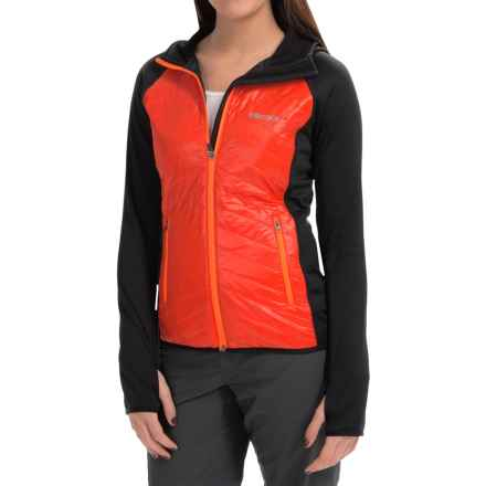 Marmot Variant Hooded Jacket - Polartec® Power Stretch®, Insulated (For Women) in Coral Sunset/Black - Closeouts