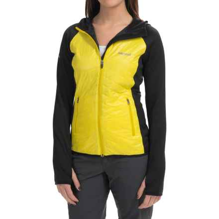 Marmot Variant Hooded Jacket - Polartec® Power Stretch®, Insulated (For Women) in Sunlight/Black - Closeouts