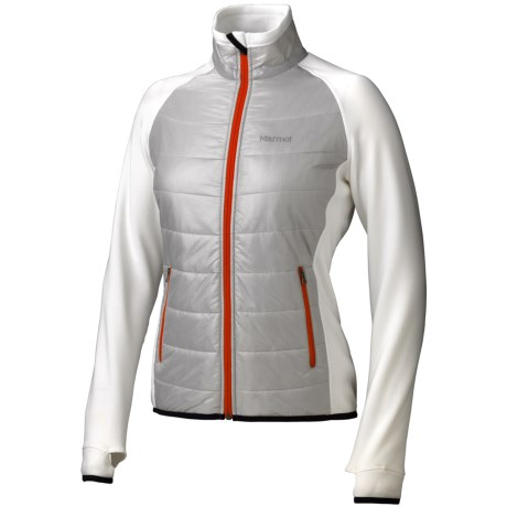 Marmot Variant Jacket - Polartec® Power Stretch® (For Women) in Platinum/White