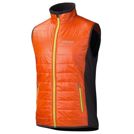 Marmot Variant Vest (For Men) in Sunset Orange/Black