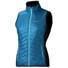 Marmot Variant Vest - Polartec® Power Stretch® (For Women) in Aqua Blue/Black - Closeouts