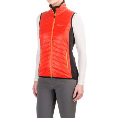 Marmot Variant Vest - Polartec® Power Stretch® (For Women) in Coral Sunset/Black