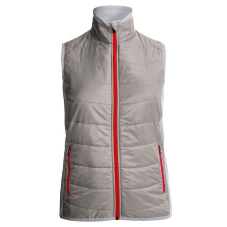 Marmot Variant Vest - Polartec® Power Stretch® (For Women) in Platinum/White