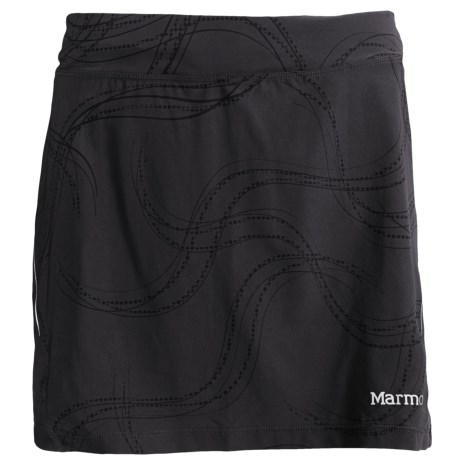 Marmot Velox Skort - UPF 30, Built-In Shorts (For Women) in Black Print Gradient