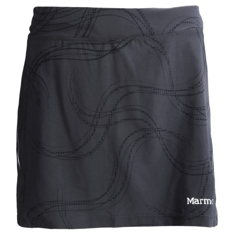 Marmot Velox Skort - UPF 30, Built-In Shorts (For Women) in Dark Steel Gradient
