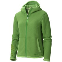 Marmot Wigi Hoodie Sweatshirt - Full Zip (For Women) in Dark Grass - Closeouts
