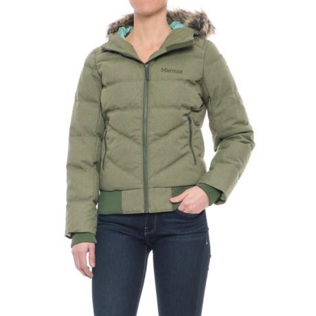 Marmot Williamsburg Down Jacket - Waterproof, 700 Fill Power (For Women) in Beetle Green