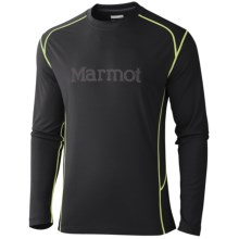 Marmot Windridge Graphic Shirt - UPF 50, Long Sleeve (For Men) in Black/Gargoyle - Closeouts