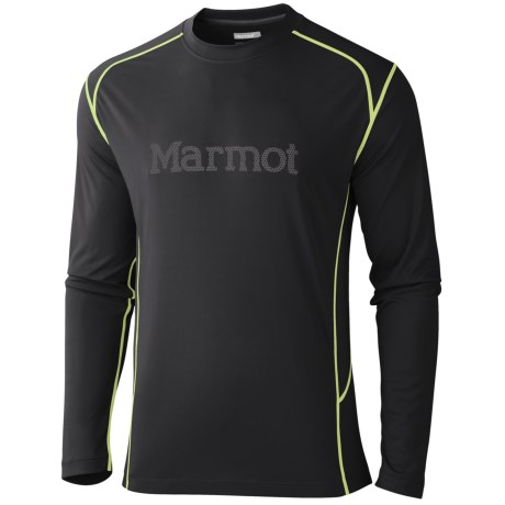 Marmot Windridge Graphic Shirt - UPF 50, Long Sleeve (For Men) in Black/Gargoyle