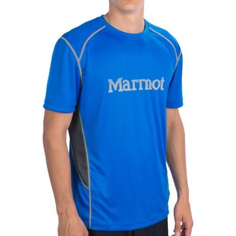 Marmot Windridge Graphic  T-Shirt - UPF 50, Short Sleeve (For Men) in Cobalt Blue/Granite