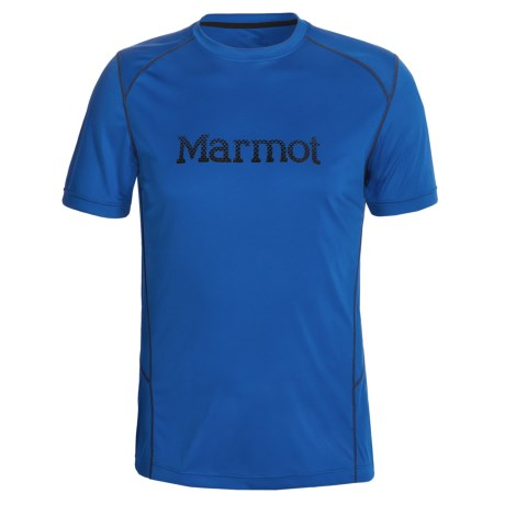 Marmot Windridge Graphic  T-Shirt - UPF 50, Short Sleeve (For Men) in Graphic Peak Blue