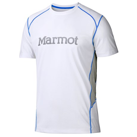 Marmot Windridge Graphic  T-Shirt - UPF 50, Short Sleeve (For Men) in Graphic White/Granite
