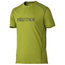 Marmot Windridge Graphic T-Shirt - UPF 50, Short Sleeve (For Men) in Green Lichen/Greenland - Closeouts