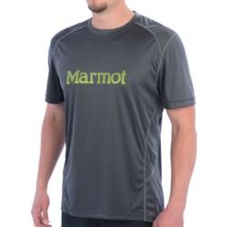Marmot Windridge Graphic  T-Shirt - UPF 50, Short Sleeve (For Men) in Slate Grey/Green Lichen