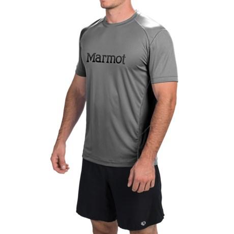 Marmot Windridge Graphic T-Shirt - UPF 50, Short Sleeve (For Men) in Slate Grey
