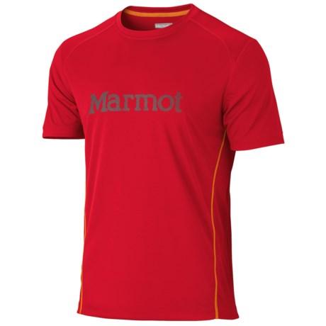 Marmot Windridge Graphic  T-Shirt - UPF 50, Short Sleeve (For Men) in Team Red