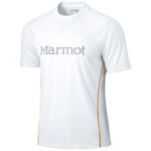 Marmot Windridge Graphic  T-Shirt - UPF 50, Short Sleeve (For Men) in White/Gargoyle - Closeouts