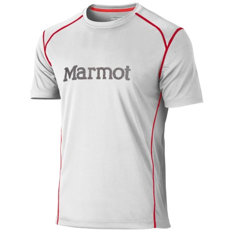 Marmot Windridge Graphic  T-Shirt - UPF 50, Short Sleeve (For Men) in White/Slate Grey