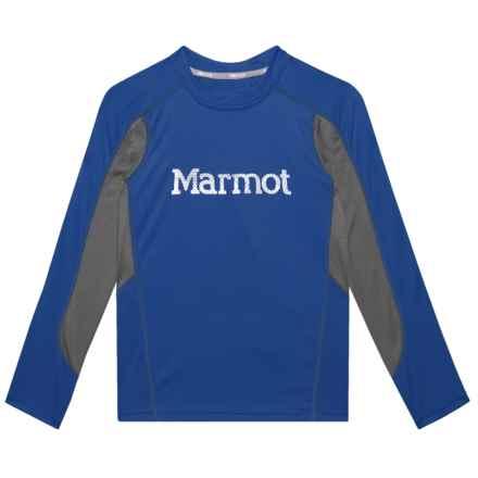 Marmot Windridge Shirt - UPF 50, Long Sleeve (For Boys) in Surf/Cinder - Closeouts