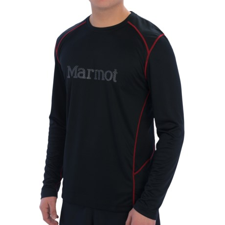 Marmot Windridge Shirt - UPF 50, Long Sleeve (For Men) in Black/Gargoyle/Red