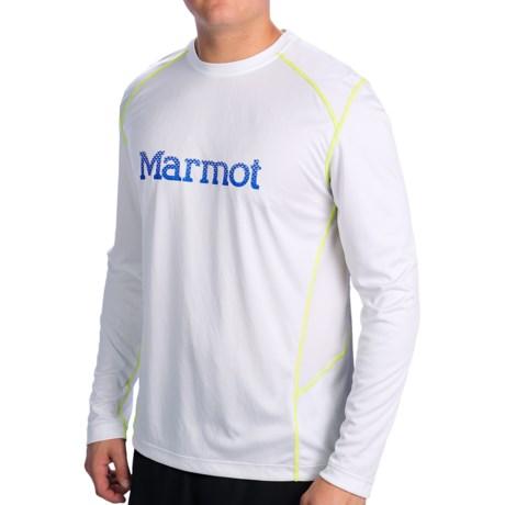 Marmot Windridge Shirt - UPF 50, Long Sleeve (For Men) in White/Cobalt Blue
