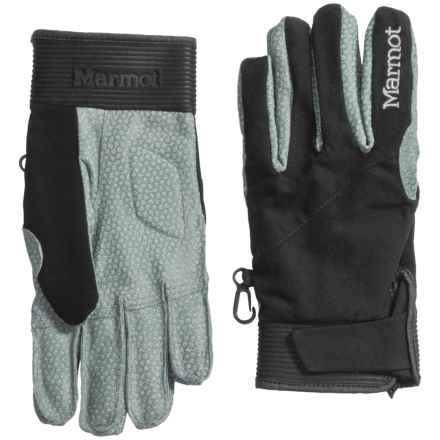Marmot XT Gloves - Leather Palm (For Men) in Black - Closeouts