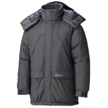Marmot Yukon Classic Down Parka - Waterproof, 650 Fill Power (For Men) in Dark Granite - Closeouts
