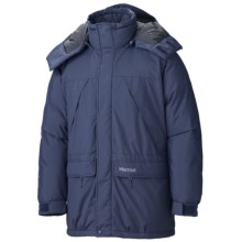 Marmot Yukon Classic Down Parka - Waterproof, 650 Fill Power (For Men) in Navy - Closeouts