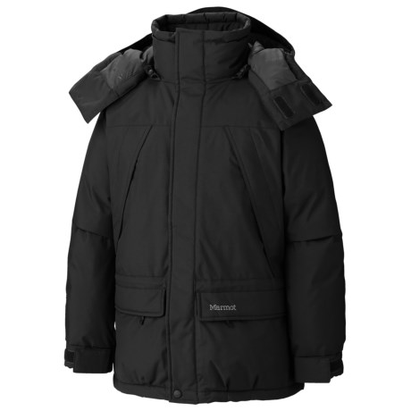 Marmot Yukon Jr. Classic Down Parka - 650 Fill Power (For Young Men) in Black
