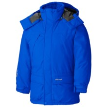 Marmot Yukon Jr. Classic Down Parka - 650 Fill Power (For Young Men) in Dark Azure - Closeouts